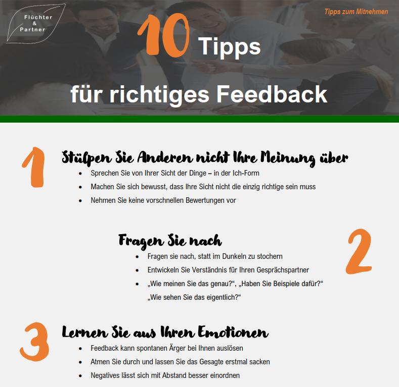 10 Tipps für richtiges Feedback